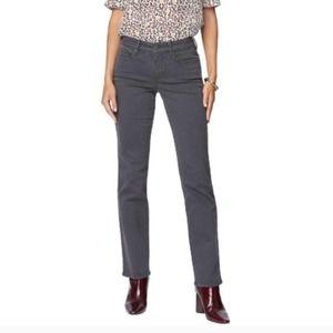 NYDJ Marilyn Straight Jeans in Vintage Pewter